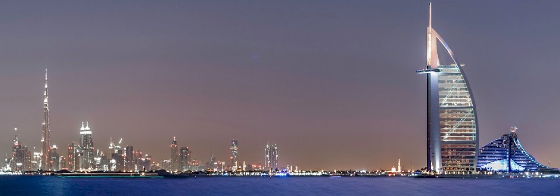 digital image of dubai night life